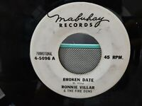 """PROMO 7"""" 45 rpm single philippines - ronnie villar and the firedons / BROKEN DAT"""