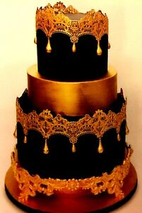 2 x Edible Wedding Cake Lace ***  Made To Order ***  Great Prices