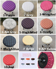 """14"""" Bar Stool Covers Round Chair Seat Cover Cushions Sleeve 10 Color Dental"""