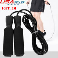 Gym Aerobic Exercise Boxing Skipping Jump Rope Adjustable Bearing Speed Fitness