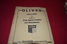 Oliver Tractor Model 15 Combine Dealer's Parts Book Manual BVPA