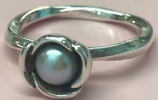 PANDORA | My Wish Grey Pearl Ring 190607GP Bloom Retired RARE 59 S925 Ale