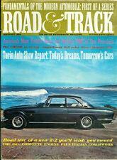 1964 Road & Track Magazine: BMC Race Car Builder/Corvette Engine/Watkins Glen