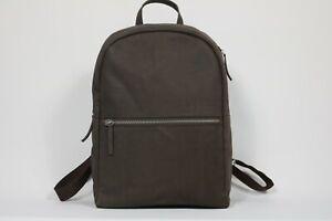 Timberland Men's Premium Leather Mocha Brown Backpack