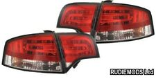 Audi A4 B7 Saloon 2004-2008 Red and Clear LED Rear Lights OEM look