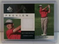 2001 Upper Deck SP Authentic Preview Threads Hunter Haas Rookie Golf CardHH-AT