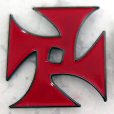 RED Process Church 4P Cross Pin Degrimston PTV PSYCHIC TV THROBBING GRISTLE