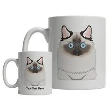 Birman Cat Cartoon Mug - Personalized Text Coffee Tea Cup