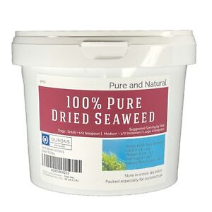 Seaweed Powder For Dogs 100% Natural Dried & Ground Kelp 500g Tub - Helps Plaque