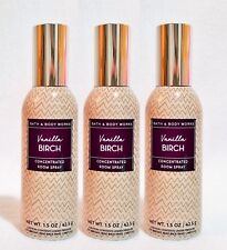 3 Bath & Body Works VANILLA BIRCH Mini Room Spray Perfume 1.5 oz ea