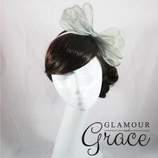 Holly Grey Silver Fascinator Hatinator Headpiece Headband Races Wedding Event