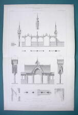ARCHITECTURE PRINT 1869 - SWEEDEN Wooden Architecture at Paris 1867 Exposition