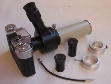 Zenit-E Soviet camera w/ LOMO MFN-12 Microscope Photo Attachment set IN BOX EXC.