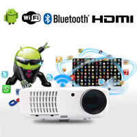 Wireless Smart Android Bluetooth Video Projector 4000lms WiFi 1080p 2*HDMI 2*USB