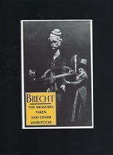 Measures Taken and Other Lehrstucke Paperback by Brecht Bertolt Willett New