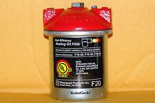 Oil Burner Filter Canister  / F-20 / General 1A, Unifilter 77. Westwood F10-F25