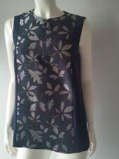 TOMMY HILFIGER maglia senza maniche con chiusura lampo frontale BLU TGL 6/36-38
