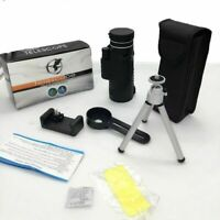 US 40X60 Monocular Night Vision Waterproof Telescope BAK4 Prism with Tripod
