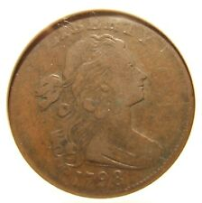 1798 Draped Bust Large Cent, S-179, VF-20