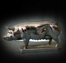 GENUINE RARE, 1920's CAR MASCOT in the FORM of a PIG by LOUIS LEJEUNE