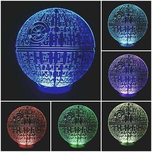 LED Tischlampe Tischleuchte Nachtlicht 7 facher Farbwechsel - Todesstern