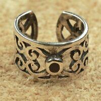 Ornament Onyx Ohrklemme 925er Silber Symbol Schmuck - Neu