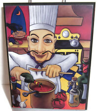 """EDUARDO by WILL RAFUSE Wood Print Artist Oil Painter Canada 10"""" tall x 8"""" wide"""