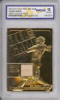 BARRY BONDS 23K GOLD GAME USED BAT CARD - GEM MINT 10 - Special Price