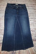a16e5000689a6 LEVI 525 Curvy Bootcut medium wash long denim skirt maxi size 14