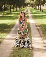 Farm Rio Farm Fair Tiered Printed Maxi Dress NWT Size XS