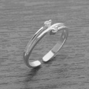 Genuine 925 Sterling Silver Adjustable Toe Ring Midi Knuckle Top Finger