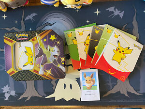 Pokemon Party Favors 25th Anniversary Shinning Fates Tin Picture Frame Deck Box