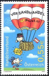 Austria 2003 Hot Air Balloon/Aviation/Flight/Transport/Post/Mail 1v (s5882)