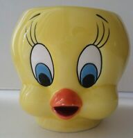 Vintage Applause Warner Brothers Loony Tunes 3-D Tweety Bird Mug Ceramic USED