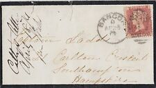 GB LINE ENGRAVED :1874 Id plate 143 R-L used on cover-BANGOR 47  numeral