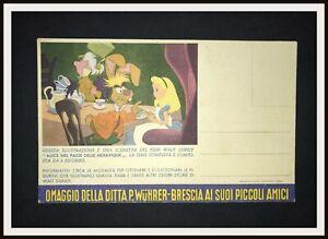 ⭐ ALICE Cartolina Album WUHRER Disney - 1952 - DISNEYANA.IT ⭐