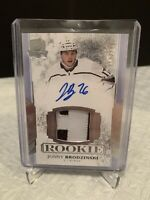 2017-18 UD The CUP JONNY BRODZINSKI RC Redemption Relic Autograph #217/249