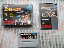 Jeu Super Nintendo / Snes game Starwing CIB PAL Ukv complet original *