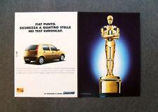 [GCG] I714- Advertising Pubblicità -2000- FIAT PUNTO ,SICUREZZA A QUATTRO STELLE