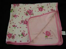 The Childrens Place TCP Floral Pink Baby Blanket Lovey White Pink Flowers Girls
