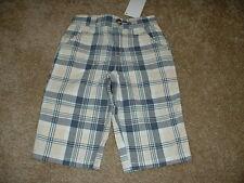 Gymboree Baby Boys Yacht Club Plaid Tan Blue Pants Size 3-6 mos months NWT NEW