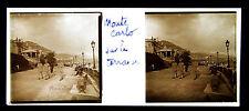 Monaco Monte Carlo Stéréo 45x107mm Plaque de verre pos., vers 1915