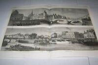 #00-0152 5/2/1863 ANTIQUE PRINT (MISC) - QUAYS OF PARIS - QUAI CONTI