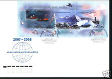 Russia 2007 International Polar Year FDC with souv/sh 3 stamps on the cover