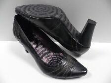 Chaussures VIRUS MODA noir doré FEMME taille 36 escarpins shoes NEUF #20292