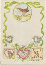Rare MINT Tasha Tudor Note Postcard from the Jenny Wren Press early 1990s corgi