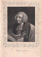 1840 Viktorianisch Aufdruck ~ Porträt Von Bishop Lowth