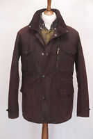 £229 Mens Barbour Sapper M Medium Rustic Brown Sylkoil waxed jacket hooded