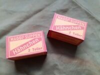 WW2 German Repro Maggi Soup Chicken flavour ration (box with contents)
