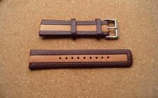 SUPERB TWO TONE BROWN PADDED   Real  Leather  WATCH STRAP  22MM